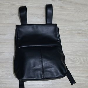 Monki PU Black Backpack